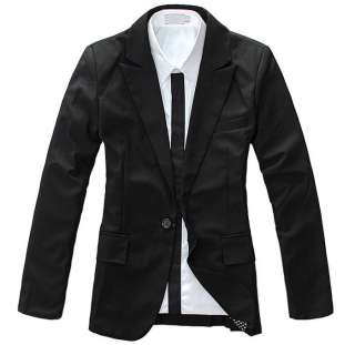 Fashion Stylish Slim Fit One Button Suit Blazer Coat 2 Colors MCH0637