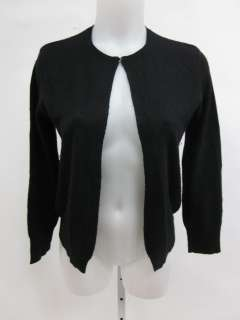 RL RALPH LAUREN Black Silk Cashmere Cardigan Wrap Sz M