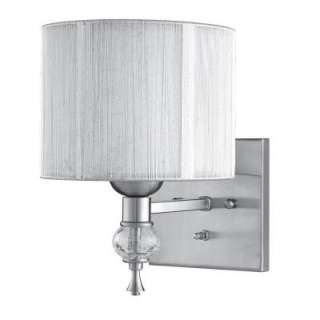 Bayonne Collection 1 Light Brushed Nickel Wall Sconce with Silver