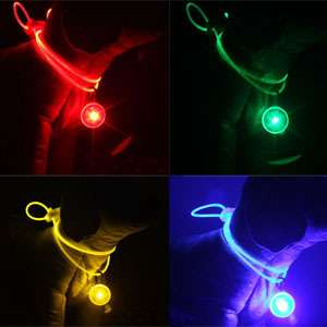 COLOR Pet Dog Cat Lighted Flashing & Safety LED Light Tag Hym