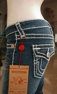 NWT True Religion womens Billy super T jeans in Del Mar Medium