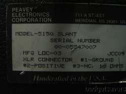 Peavey 5150 Slant 4 x 12 Speaker Cabinet w/ Casters