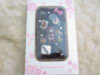Candy Bear Cake Bling Case for iPhone 4 4S Black or White  D
