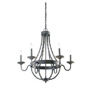 Hampton Bay Barcelona 6 Light Rustic Iron Chandelier GTY9116A 2 at The
