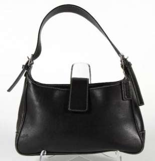 Coach Black Leather Hampton Classic Shoulder Bag Everyday