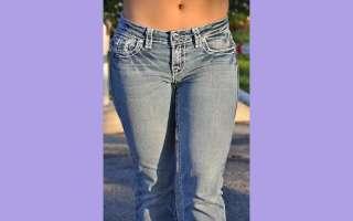 la Idol jeans SZ 1 13 LIGHT BLUE white stitching BOOT CUT FAST