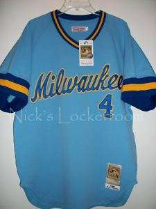 Mitchell & Ness 82 Milwaukee Brewers Paul Molitor Throwback Jersey Lg