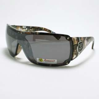 Bio Hazard Biker Style Shield Sunglasses CAMO BROWN