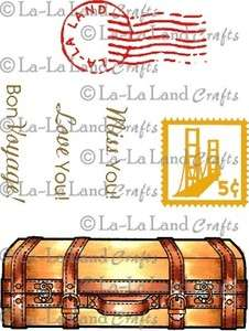 SET La La Land Crafts Marci & Luka Mounted Cling Rubber Stamp Stamping