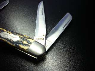 ESTATE † VINTAGE UNCLE HENRY BONE POCKET KNIFE SCHRADE USA 897UH
