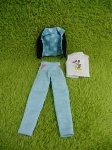 Neo Blythe Outfit Clothing Handmade Basaak blue pants casual set 3 pcs