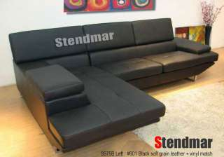 S975BW NEW MODERN DESIGN LEATHER SECTIONAL SOFA