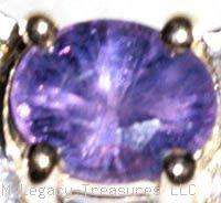 rare color change sapphire 10K gold ring purple rose red blue