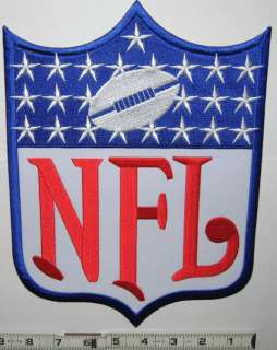 NFL FOOTBALL LOGO SHIELD 11 IRON ON JERSEY PATCH