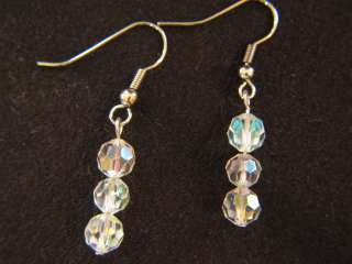 Vintage Crystal Earrings~Women Costume Fashion Jewelry