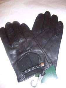 New Stunning Ladies Black Leather Driving Glove XLarge