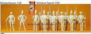 32 Preiser 63850 Preußen 1756. Soldaten. Figuren. OVP