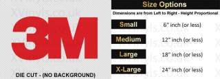 3M Logo Custom Self Adhesive Vinyl Decal Sign Sticker Cars Bikes Walls