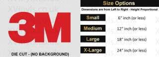 3M Logo Custom Self Adhesive Vinyl Decal Sign Sticker Cars Bikes Walls