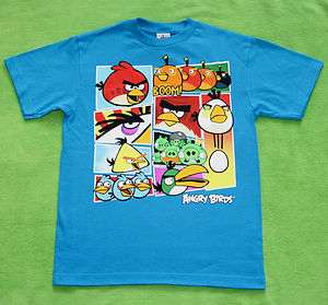New Boy Youth Angry Birds Angry Stars T Shirt Tee Size S M L XL