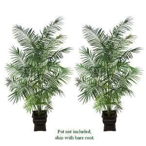 TWO 8.5 Artificial Tropical Areca Palm Trees, with No Pot
