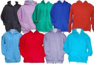 Plain HOODIE Hooded Sweatshirt Top 9 Colours S to XXL