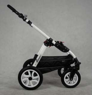 BEXA 3in1 PRAM PUSHCHAIR CAR SEAT AIR WHEELS ALUMINIUM FRAME NEW