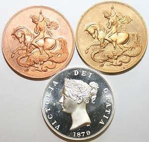 Retrospective Fantasy Coin   Victoria 1879 Crown (George & Dragon