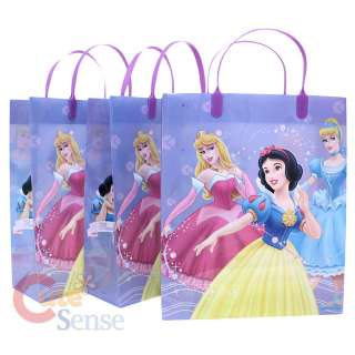 Disney Princess Party Gift Bag Set of 3 Plastic / Reusable Purple