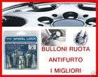BULLONI ANTIFURTO RUOTE AUTO CERCHI LEGA ACCIAIO LEXUS anti furto