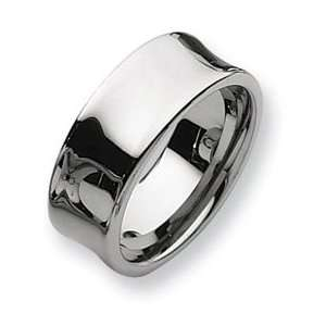 Tungsten Concave 9mm Polished Band TU34 11.5: Jewelry