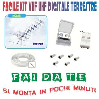 KIT FACILE FAI DA TE ANTENNA DIGITALE TERRESTRE VHF/UHF VERSIONE 20dB