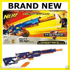 Nerf N Strike Longstrike CS 6 Blaster Gun   Brand New   Shoots