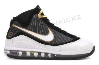 Nike Zoom Lebron 7 375793 011 New Kids Youth GS Black White Basketball