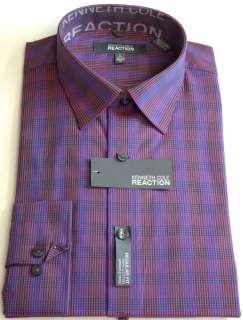KENNETH COLE REACTION Mens Plaids Dress Shirt First Light Sizes M