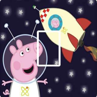 PEPPA PIG SPACE ROCKET LIGHT SWITCH COVER,STICKER