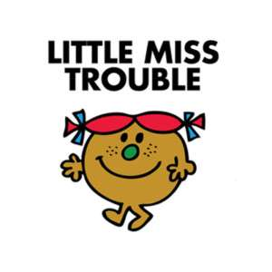 LITTLE MISS TROUBLE T SHIRT IRON ON TRANSFER 2 DESIGNS!