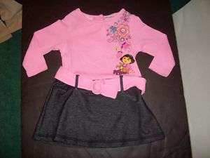 NWT LITTLE GIRLS DORA DRESS BY NICKELODEON 18 MONTHS