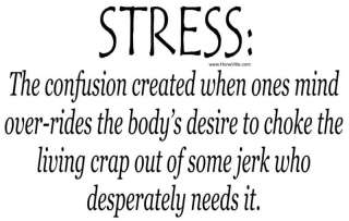funny T shirt STRESS definition