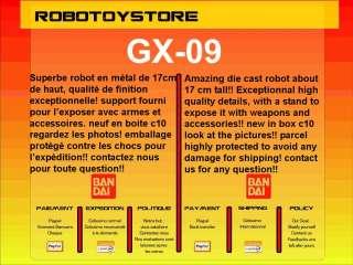 GX 09 MINERVA X MAZINGER Z BANDAI GOLDORAK GOLDRAKE
