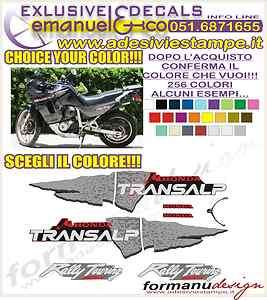 KIT ADESIVI DECAL STICKERS HONDA TRANSALP XL 600 V 97