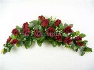 Rose Bud Eucalyptus Gypso Artificial Silk Flowers Swag / Table