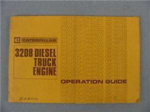 Caterpillar 3208 Diesel Engine Operation Manual