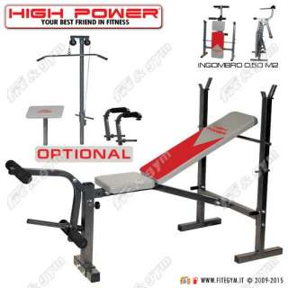 PANCA PESI MULTIFUNZIONE PALESTRA HIGH POWER BENCH 550