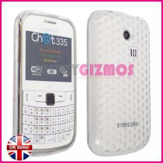 CLEAR SILICONE GEL CASE COVER FOR SAMSUNG CHAT 335 3350