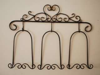 Iron French Photo Plate Holder Rack Display Wall Decor