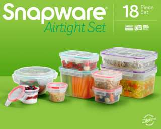 18 piece Plastic Food Storage Container Set 884408017576