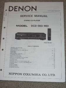 Denon Service Manual~DCD 610 CD Player