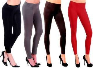 WARM Thick Footless FLEECE LINED Skinny Tights Leggings Yoga Pants