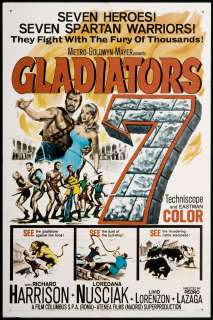 Gladiators 7 1963 Orig Movie Poster   Richard Harrison